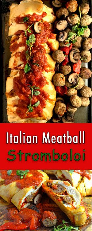 Italian Meatball Stromboli #HalftimeHero @FarmRichSnacks