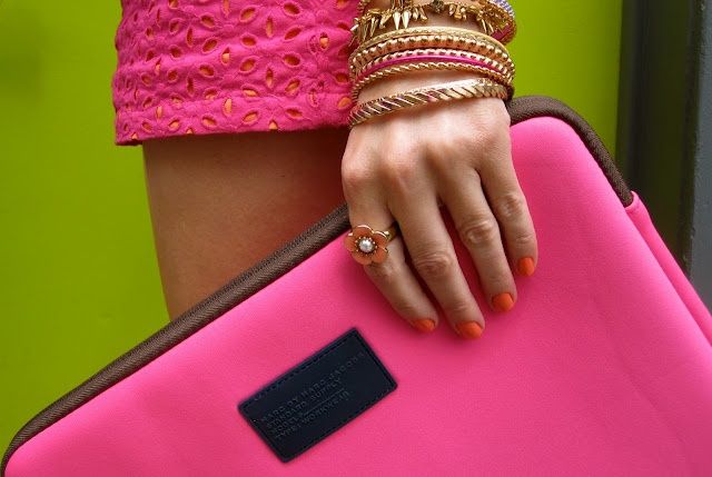 Hot Pink Marc by Marc Jacobs laptop case
