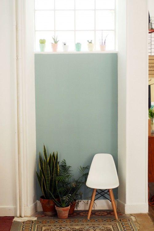 La jolie meulière, l'avant/après de la salle à manger, blue de chez Farrow and ball
