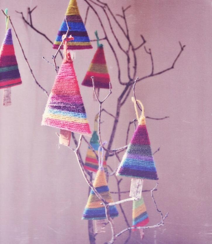 fun yarn ornaments