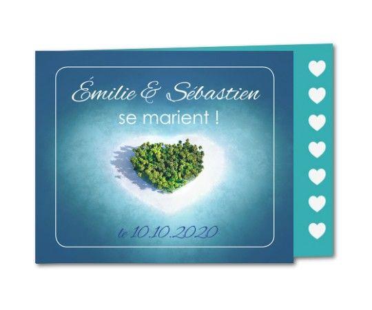 faire part mariage paradis romantique
