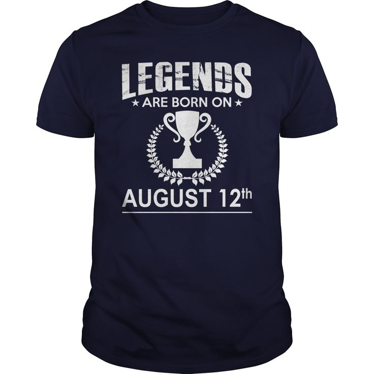 August 12 birthday Shirts, Legends are Born on August 12 shirts, August 12 birthday, August 12 Tshirt, Born on August 12, Legend T shirt, Legends T-shirt, Birthday Hoodie Vneck