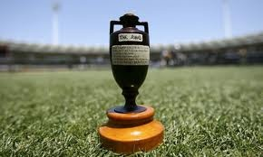The Ashes cricket trophy