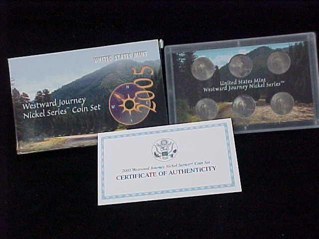 United States Mint 2006 Westward Journey Nickel Series Coin Set Orig Box COA