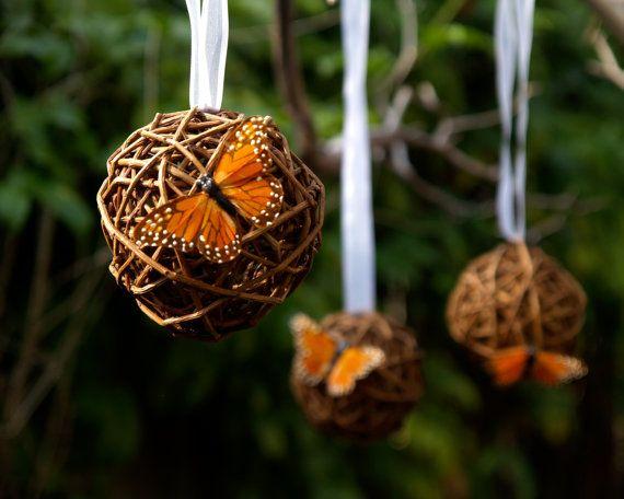 Woodland Pomander Rustic Wedding Decoration by FairyfolkWeddings