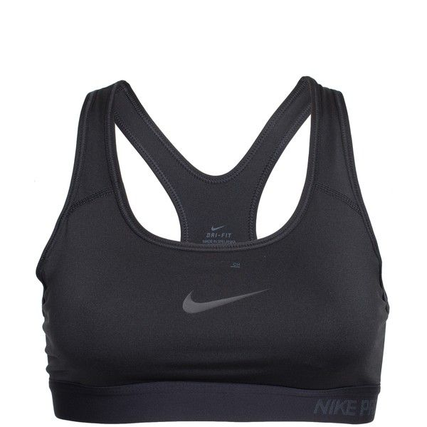 Nike Pro Classic Padded Bra ($53) ❤ liked on Polyvore featuring activewear, sports bras, black, sports fashion, womens-fashion, nike sports bra, nike, nike sportswear, sports bra and racerback sports bra
