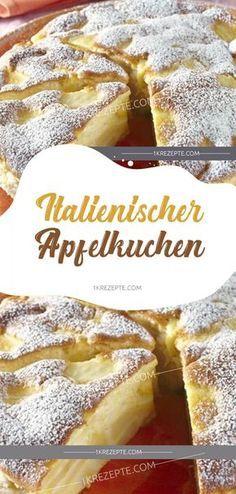 Italienischer Apfelkuchen   – Rezepte