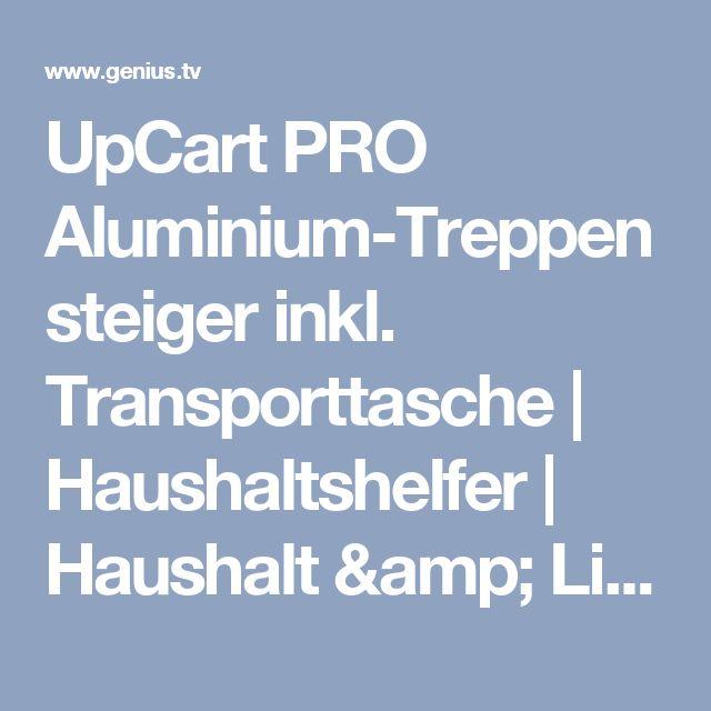 UpCart PRO Aluminium-Treppensteiger inkl. Transporttasche   Haushaltshelfer   Haushalt & Lifestyle  