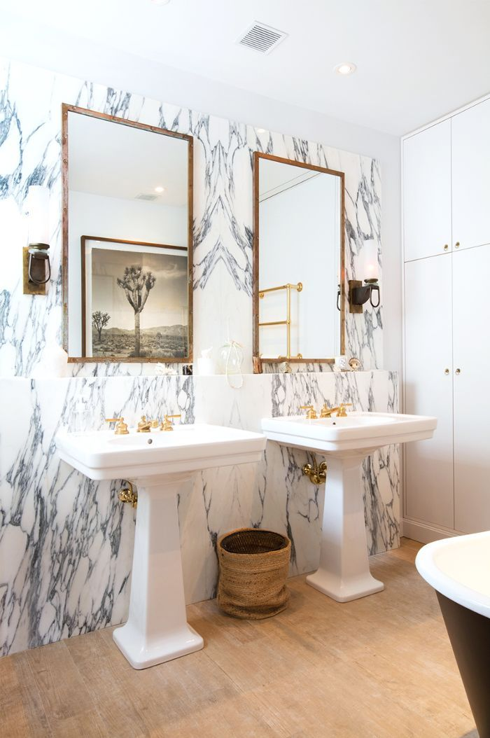 We chatted with Nate Berkus and Jeremiah Brent about their new TLC show, Nate and Jeremiah by Design, and how they manage to decorate on a tight budget.i like idea of separate vanity, and these are lovely