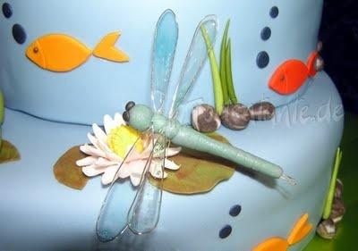 Libelle aus Modellierfondant