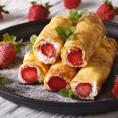 Classic Creamy Cheese Crepes