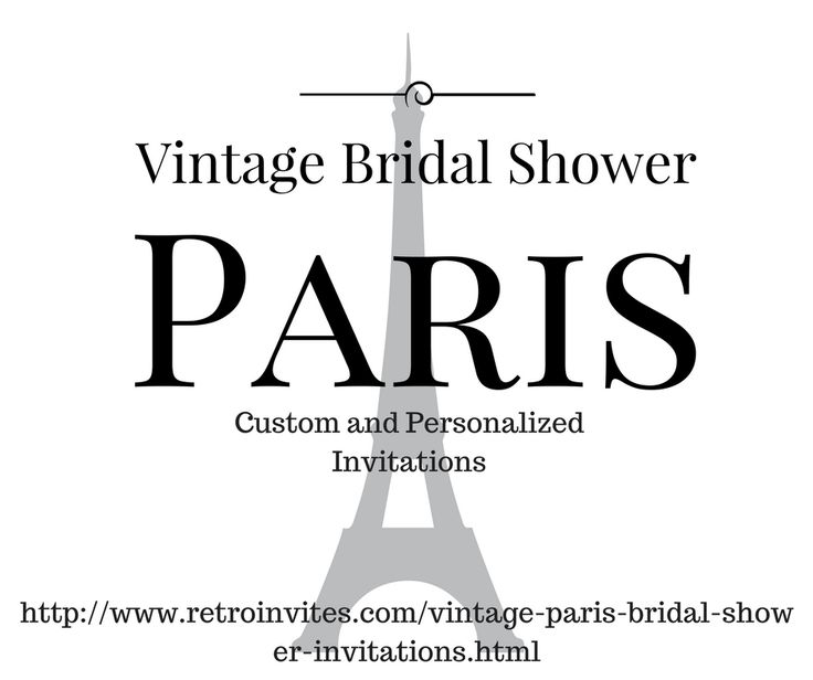 261 best bridal shower invitations and ideas images on pinterest shop the most romantic vintage paris bridal shower invitations weve found online chic filmwisefo Images