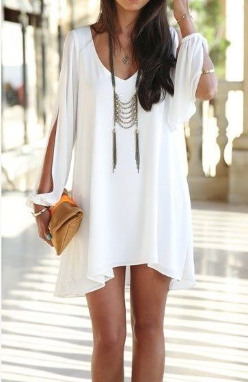 The perfect simple white dress
