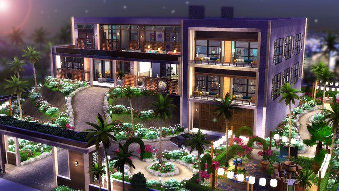 Bellepinte On Twitter Sims House Sims House Design Sims 4 Modern House