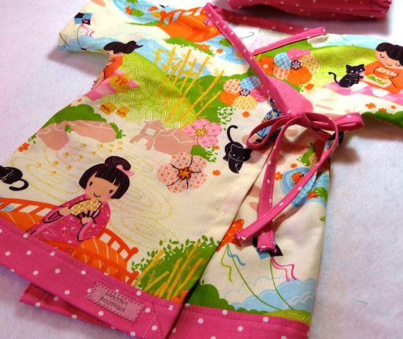 Baby Kimono Original LivvySue Kimono Top Aoi Has Two by livvysue