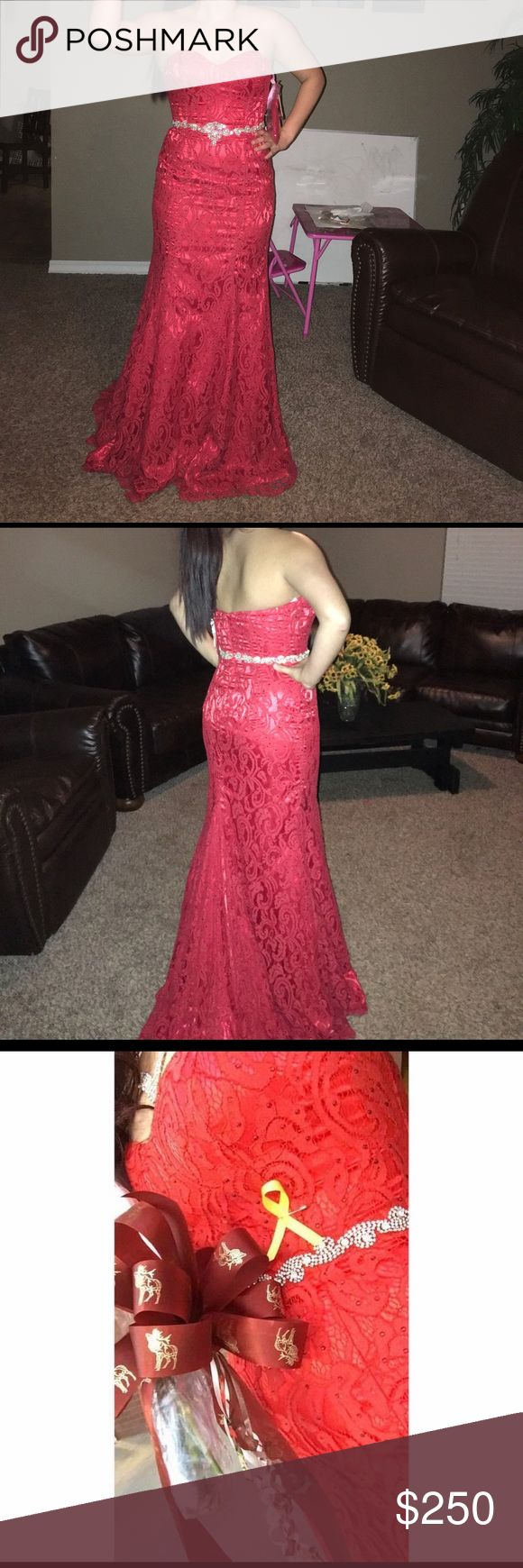 Size 8 Blush (brand) Prom dress Only worn once for maybe 20 minutes to walk Acers the football field for the homecoming ceremony I paid $425 Blush Dresses Prom