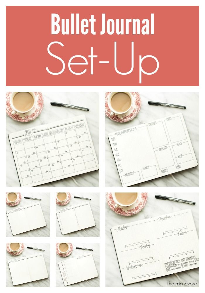 Bullet Journal Set-Up: April 2016 - The Minnevore