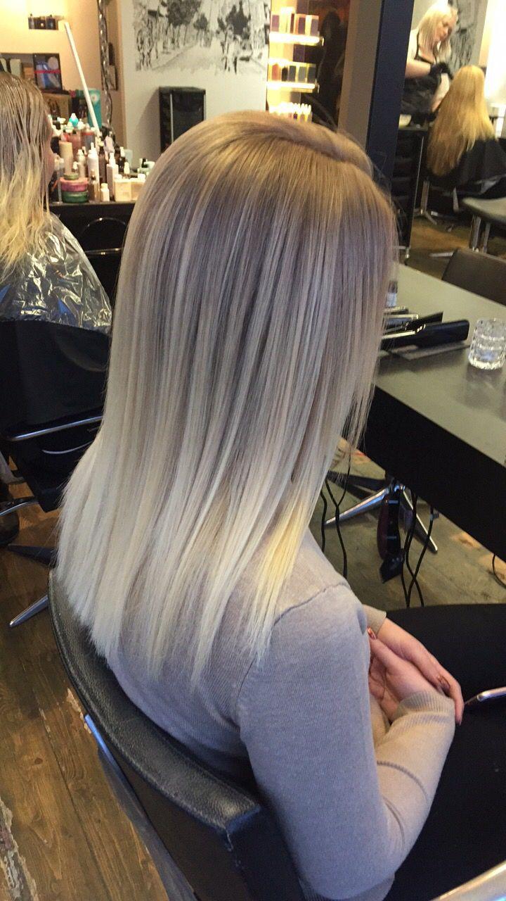 Blonde sweeping hair   – Hair