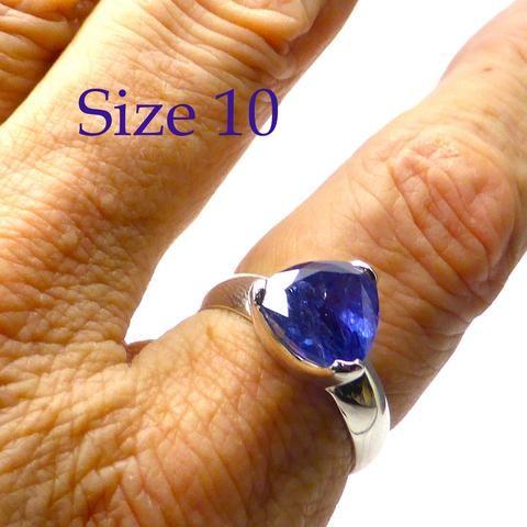 Tanzanite Ring Trillium | 925 sterling Silver | Size 10 | Spiritual Superlative | Authentic stone from Tanzania | Mt Kilimanjaro | Crystal Heart Melbourne Australia since 1986