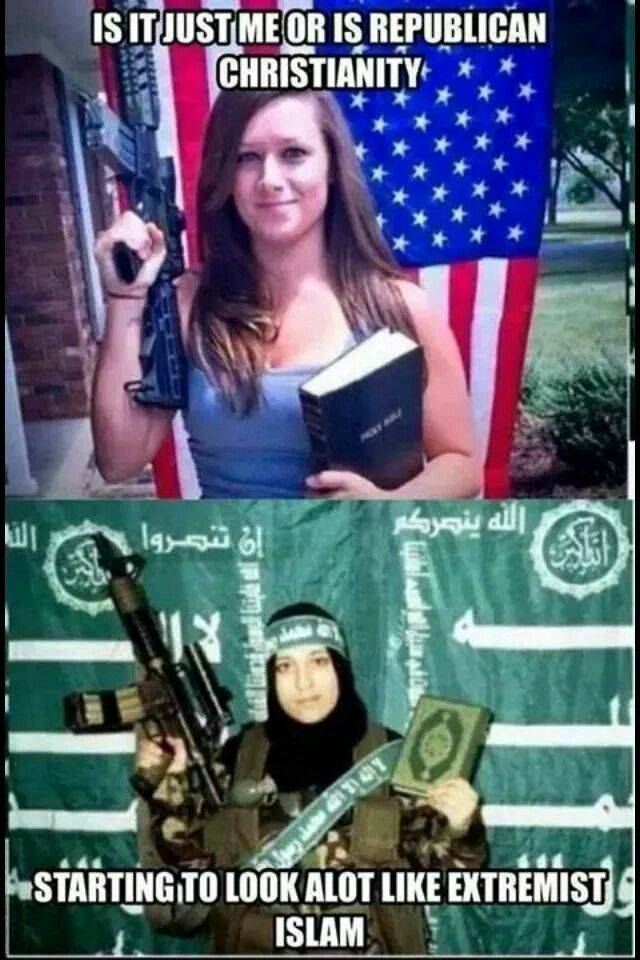 Image result for christian and islamic extremism identical