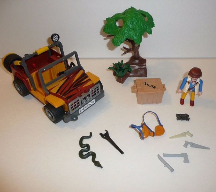 Playmobil Parts + Pieces Lot Set 3018 Dune Buggy Jeep Adventure Jungle Explorer #PLAYMOBIL