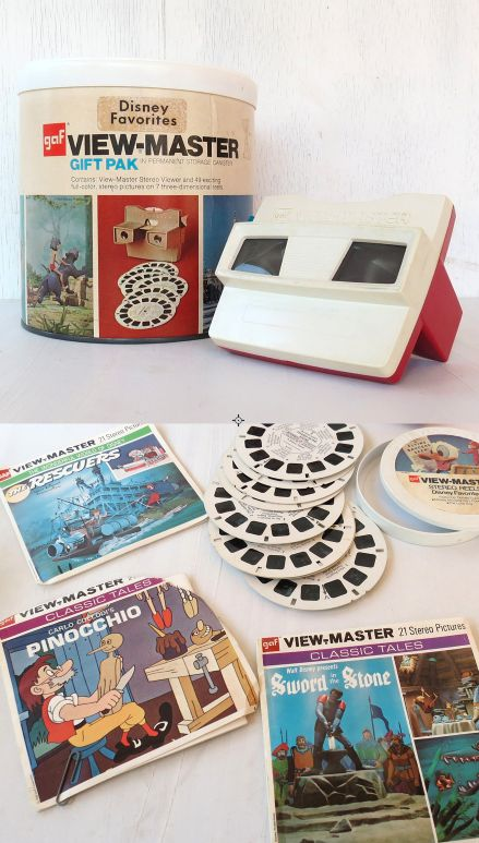 View master camera and bucket of reels~Images © Catherine VonEschen (Etsy)