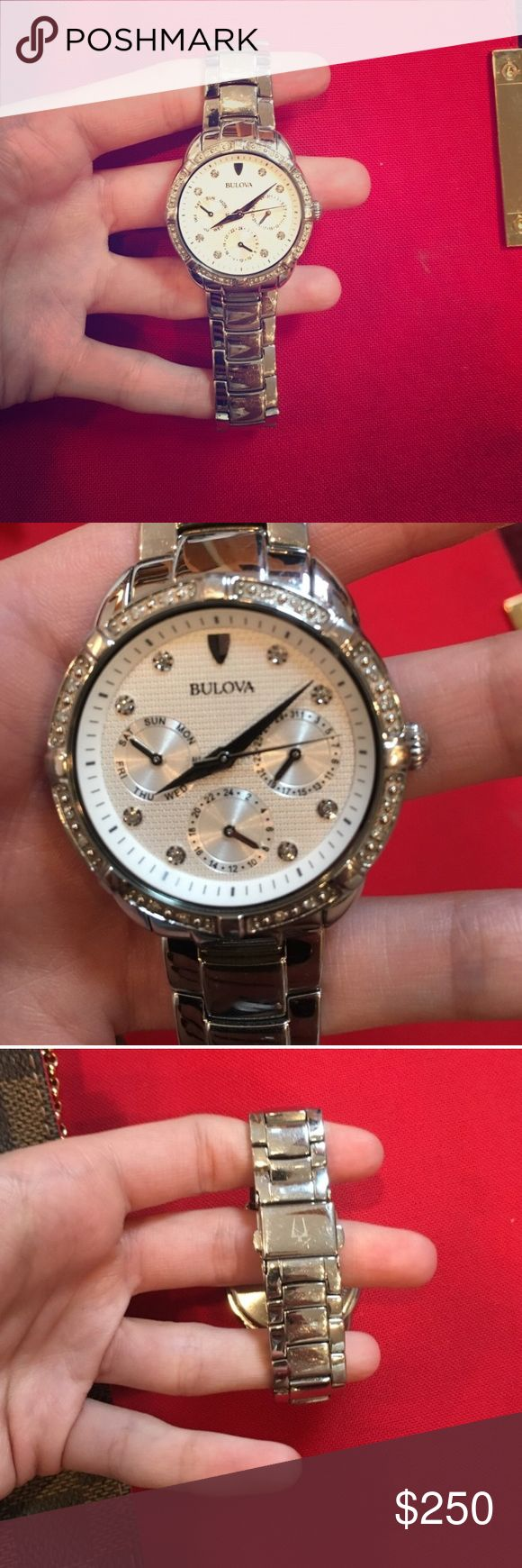 Women's Bulova watch Gently used women's Bulova watch. Purchased at Kay Jewelers. Originally $650. Bulova Accessories Watches