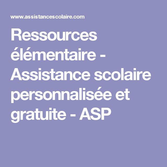 Ressources élémentaire - Assistance scolaire personnalisée et gratuite - ASP