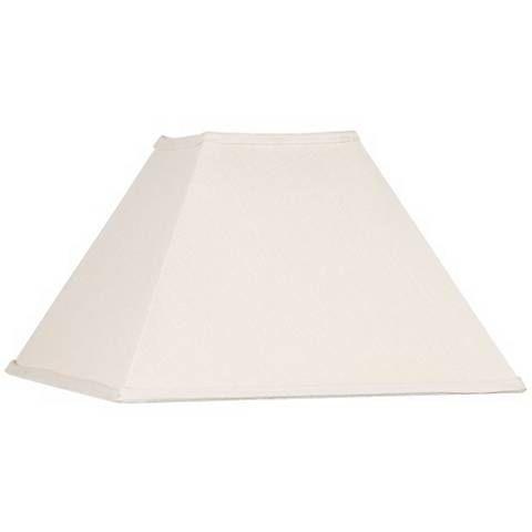 Beige Linen Square Lamp Shade 6x16x10 Spider