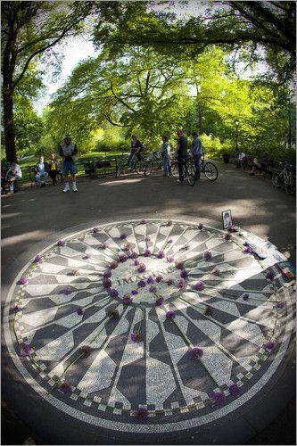 """""""Imagine mosaic, Strawberry Fields John Lennon memorial, Central Park."""""""