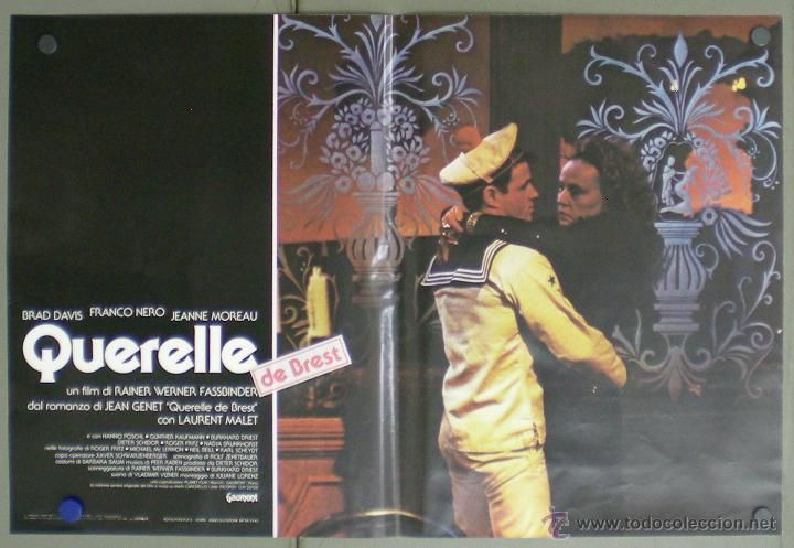 Cine: QM64 QUERELLE FASSBINDER BRAD DAVIS GAY CULT SET 8 POSTERS ORIGINAL ITALIANO 47X68 - Foto 4 - 45315208