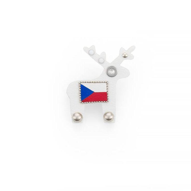 Midi brož s hrdým jménem Czech je v provedení pánské brože, tedy bez třpytivých komponentů a krystalů.