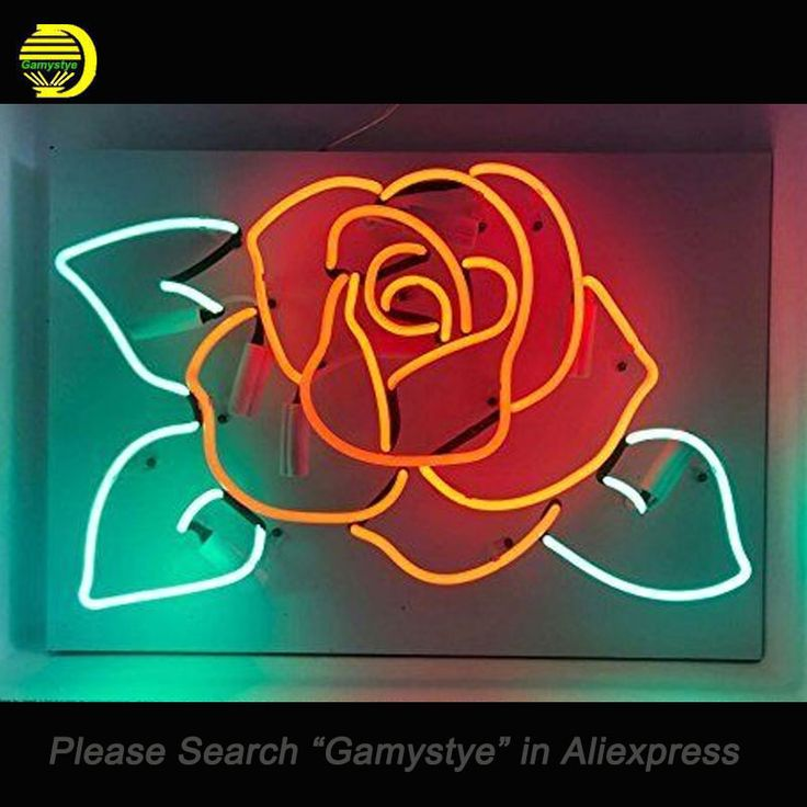 Cheap neon sign glass tube, Buy Quality neon sign directly from China neon sign board Suppliers: Rose Flower Neon Sign Glass Tube Cool Neon Bulbs Sign Beer Bar Pub lighted sign SHOP Garage Display neon lights Sign Clear Board