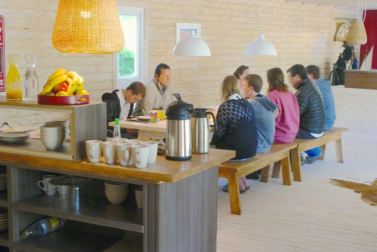 Nuestros desayunos en grupo de www.barricalodge.cl en Sta Cruz - Colchagua Valley
