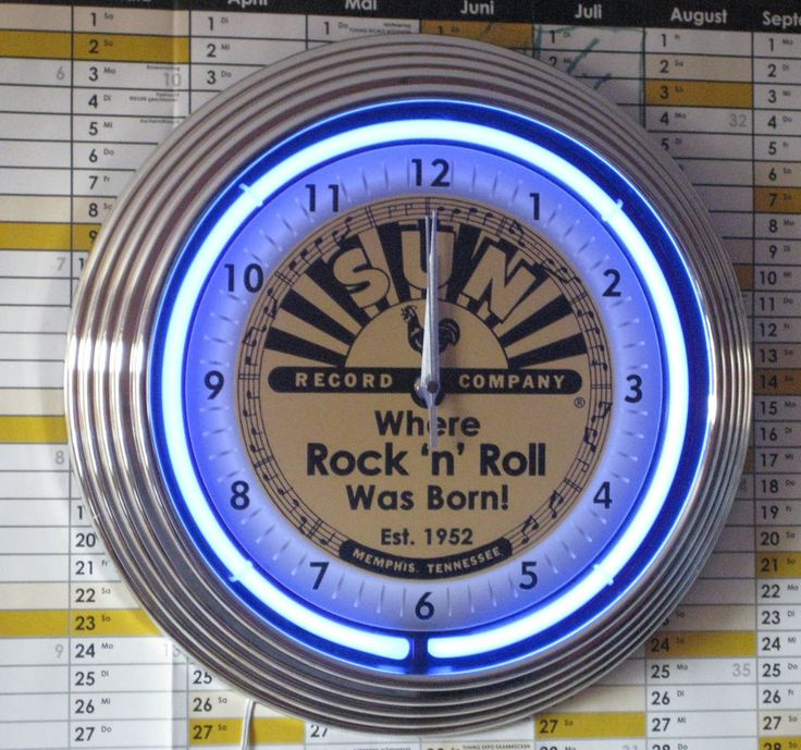 Stunning SUN RECORDS WHERE ROCK N ROLL WAS BORN WANDUHR NEON BLAU