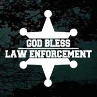 God Bless Law Enforcement decals show your support for those who protect us! Available in a variety of sizes and colors.