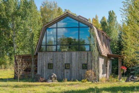 The Barn is a renovated hayloft that retains the original structure's unique character.