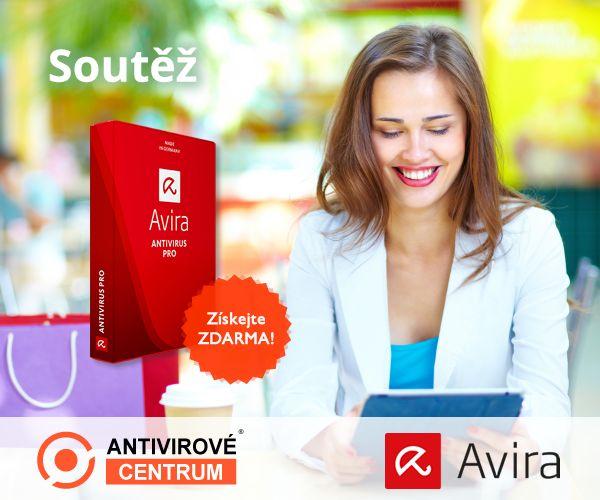Zúčastněte se soutěže s magazínem IT Kompas a získejte AVIRA Antivirus Pro: https://www.antivirovecentrum.cz/aktuality/avira-antivir-pro-zdarma-1-pocitac.aspx