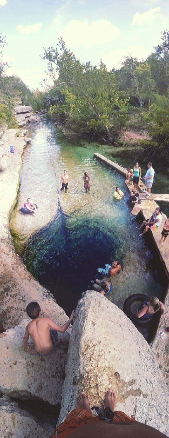 Jacob's Well is a perennial karstic spring in the Texas Hill Country.
