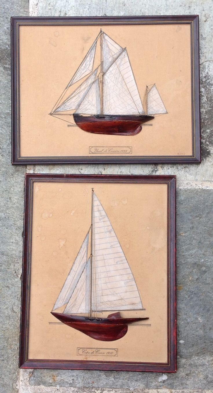 PAIR of SAILING BOATS 1930 by Glorypast on Etsy