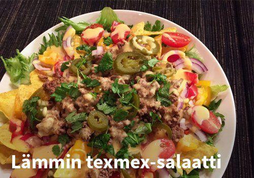 Lämmin texmex-salaatti #kauppahalli24 #ruoka #resepti #texmex #salaatti
