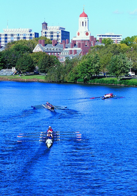 "Rowers on the Charles. Credit Information: ""Greater Boston Convention & Visitors Bureau.""    Photos are for use by the press, for promotional materials, for print and the web. Images may not be sold and may not be used on materials for sale without the express written permission of the Greater Boston Convention & Visitors Bureau."
