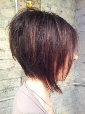 Disconnected Bob, Short Hair Length, Mahogany #Inhairent http://inhairent.com
