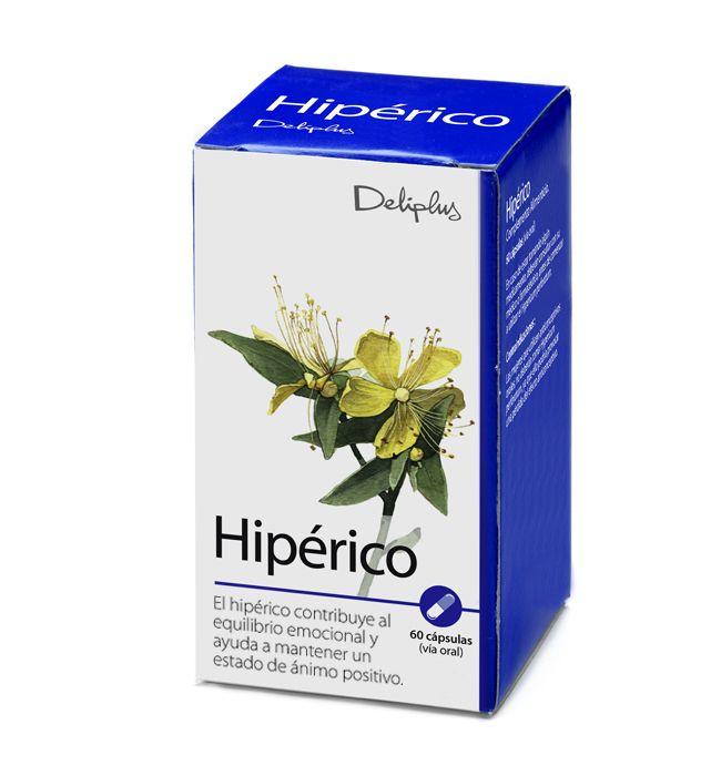 HIPÉRICO. El Hipérico contribuye al equilibrio emocional y ayuda a mantener un estado de ánimo positivo. Bote 60 cápsulas