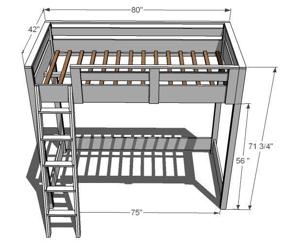 How To Build A Loft Bed I Love These Especially With Desk Underneath