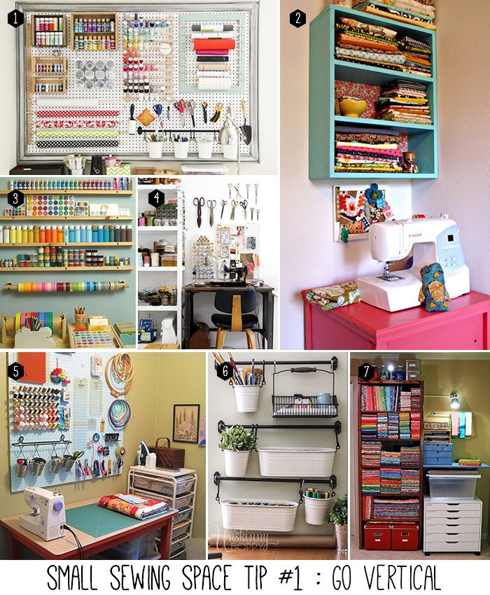 Small Sewing Space Organization Tips  http://andreasnotebook.com/2014/05/5-tips-to-organize-your-small-sewing-space.html