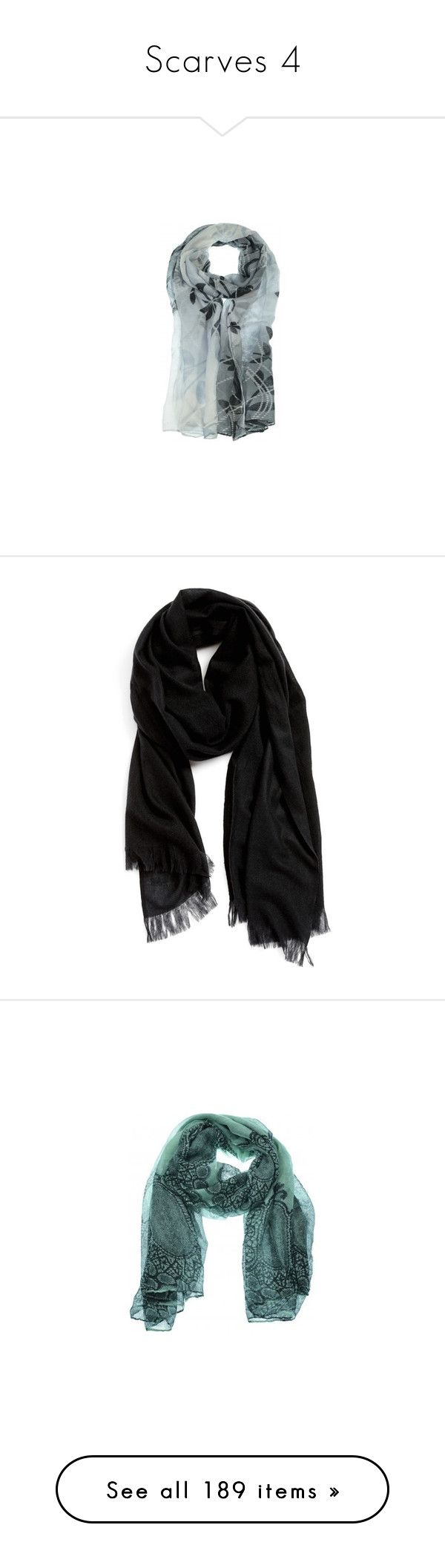 """Scarves 4"" by dmiddleton ❤ liked on Polyvore featuring accessories, scarves, colorful scarves, wrap shawl, long shawl, wrap scarves, multi colored scarves, black, fringe shawl and nordstrom scarves"