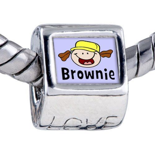 Pugster Bead Fictional Character Brownie Photo Love European Charm Beads Fits Pandora Bracelet Pugster. $12.49. It's the photo on the love charm. Hole size is approximately 4.8 to 5mm. Bracelet sold separately. Fit Pandora, Biagi, and Chamilia Charm Bead Bracelets. Unthreaded European story bracelet design