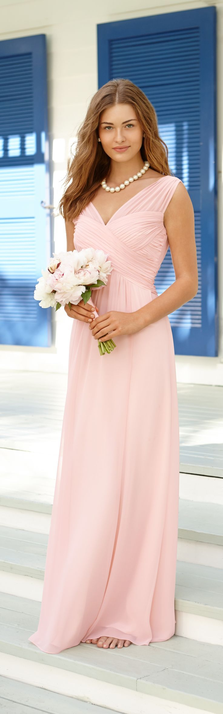 Best 25 light pink bridesmaid dresses ideas only on pinterest now shes your bridesmaid radiant in blush pink bridesmaid dressesblush ombrellifo Choice Image