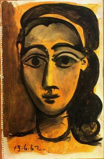 Pablo Picasso. Tête de femme 1. 1962 year